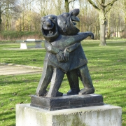 Beeld in Ton Smits Park door Peter Nagelkerke